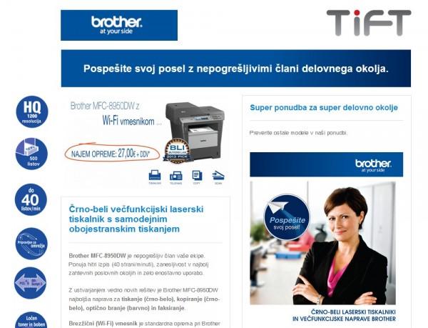Tift - tiskalniki Brother