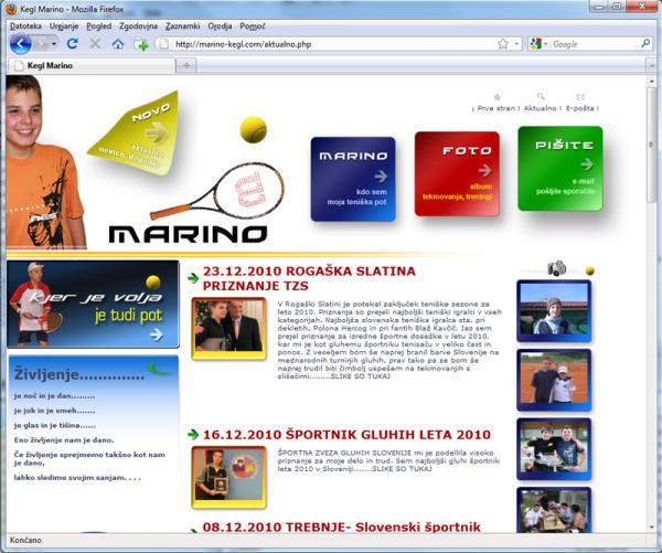 Kegl Marino - Športnik leta gluhih 2010