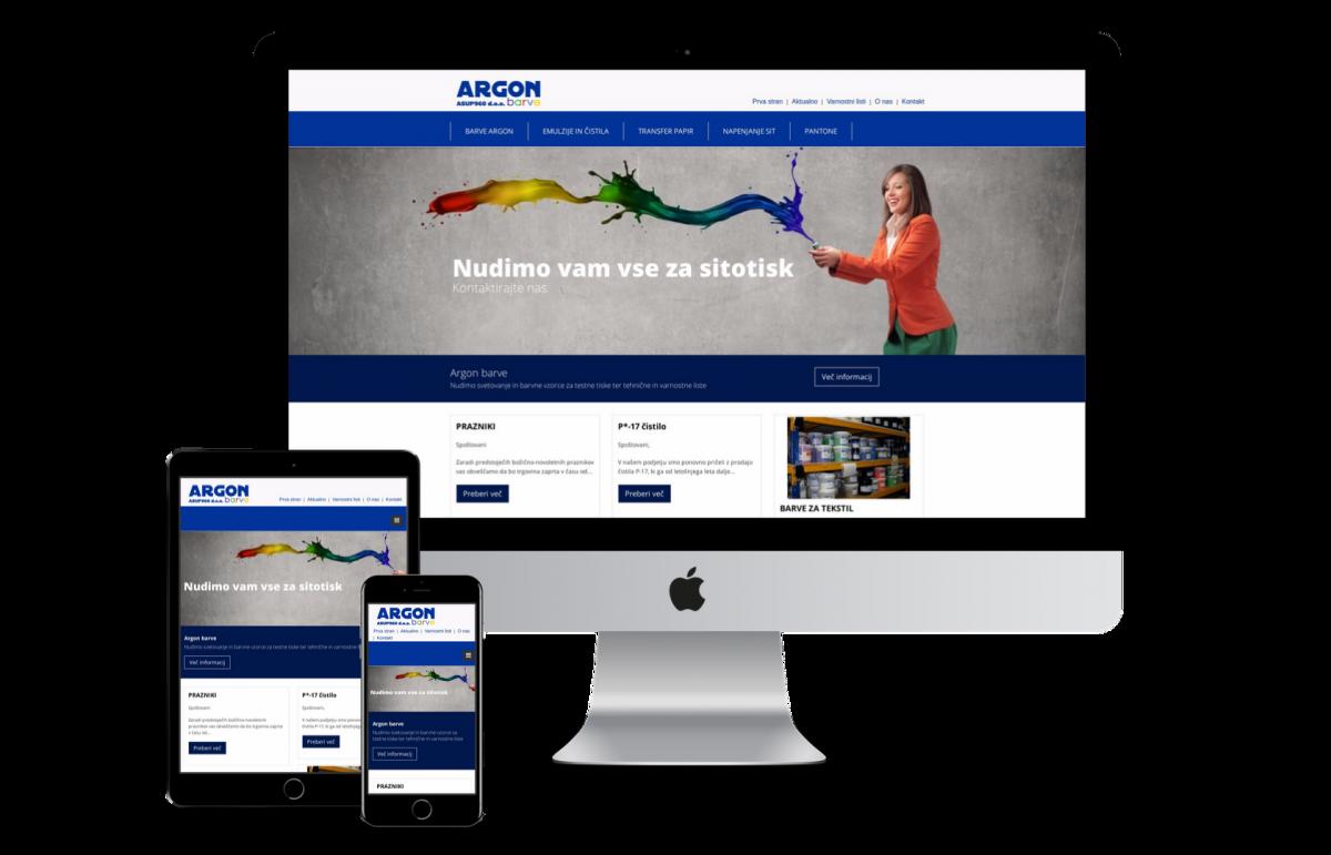 Argon barve